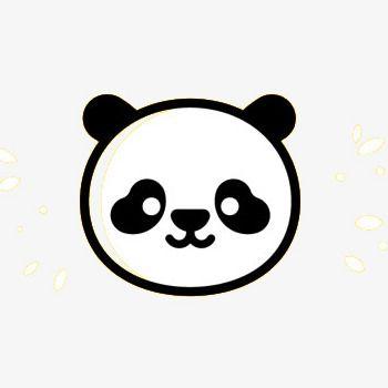Cute Panda Head Round In 2020 Panda Head Cute Panda Panda