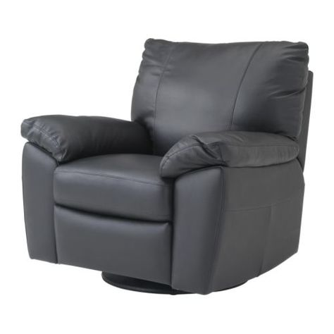 Vreta Swivel Reclining Armchair Ikea Soft Durable And Easy Care Leather Which Is Practical For Families With Children