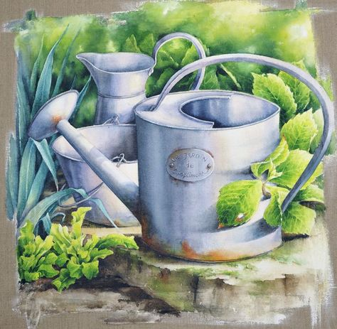 Aquarelle Composition Nature Morte Peinture Aquarelle