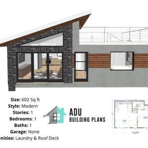 805 Square Foot 2 Bed 1 5 Bath House Design Plans For Sale Etsy House Roof Design Small House Design Small House Design Plans