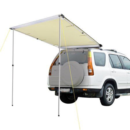 4 6 X6 6 Car Side Awning Rooftop Pull Out Tent Shelter Shade Camping Walmart Com In 2020 Tent Awning Car Awnings Car Tent