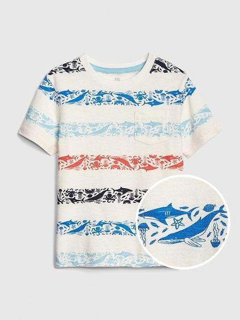 Camisa estampada de algodón BlancoPez HOMBRE   H&M ES