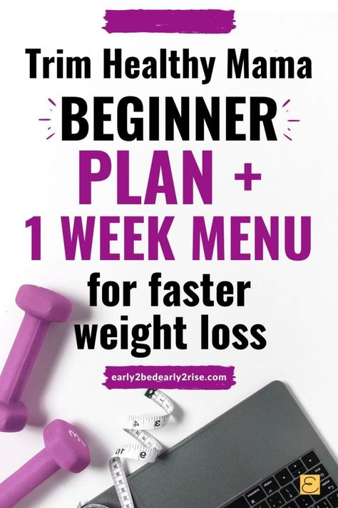 Trim Healthy Mama Meal Plan for Beginners For Fast Weight Loss