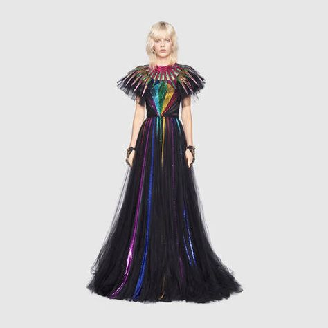 Another Gucci specialty. I think the wicked witch from Oz flew her broom straight through a rainbow!