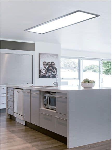 Lamparas De Cocina Modernas 33 Ideas De Decoracion Lamparas Cocina Techo Led Cocina Luces Cocina Led