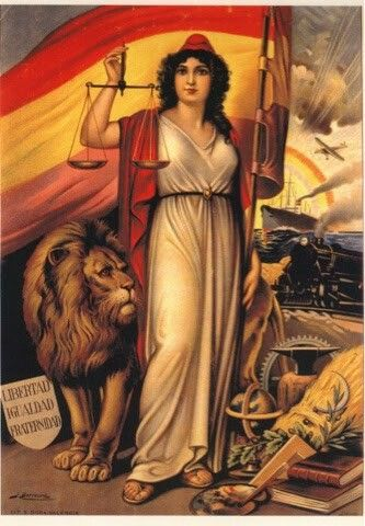 Alegoria De La Republica Representacion De Caracter Emblematico De La Ii Republica La Figura