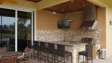 The Perfect Entertainment Layout U Shaped Outdoor Kitchen Fully Functional To Cook Serve Drinks A Outdoor Kitchen Patio Outdoor Kitchen Rustic Outdoor Kitchens