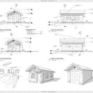 Craftsman 12 X20 Detached One Car Garage Blueprints Package Garage Blueprints Garage Door Design Garage Floor Plans