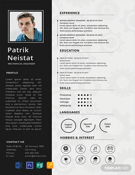 Free Mechanical Engineer Resume Cv Template Word Doc Psd Apple Mac Pages Publisher Mechanical Engineer Resume Engineering Resume Templates Engineering Resume
