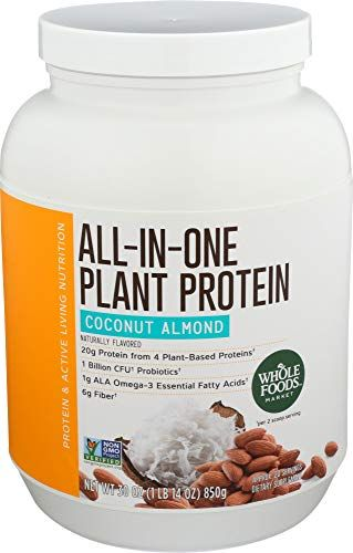 Whole Foods Market All In One Plant Protein Coconut Almond 30 Oz Protein Coconut Almond Sporcugidasi Amazon Eba Whole Foods Market Hindistan Cevizi Gida
