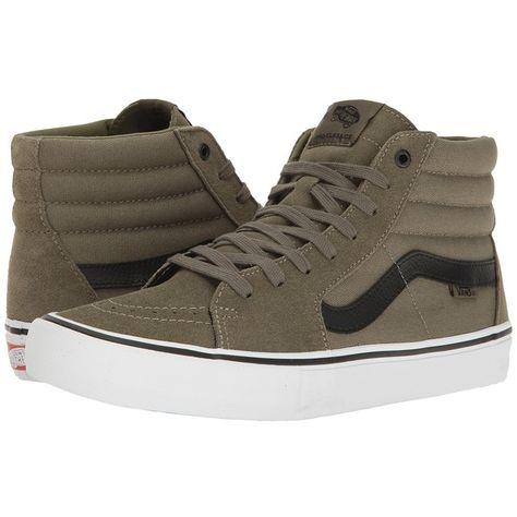 aae38db140 Vans SK8-Hi Pro ((Dakota Roche) Burnt Olive Black) Men s Skate Shoes ( 75)  ❤ liked on Polyvore featuring men s fashion