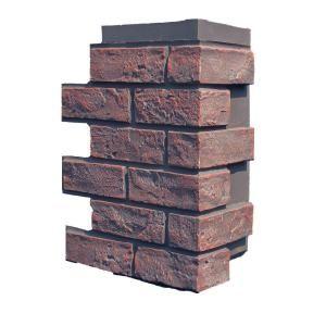 Nextstone Brick Antique Red 15 25 In X 12 In Polyurethane Faux Stone Siding Corner 4 Pack Bk Oc Ar 4 Faux Stone Veneer