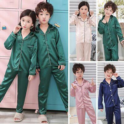 Pajamas Pyjamas set Loungewear Sleepwear Set Nightgown Silk Children Trousers