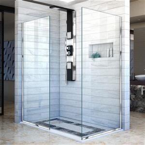 Dreamline Linea Alcove Shower Door Clear Glass 30 In Chrome