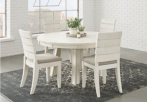 Picture Of Crestwood Creek Off White 5 Pc Round Dining Room From Dining Room Sets Furniture Dining Room Suites Round Dining Room Dining Room Sets