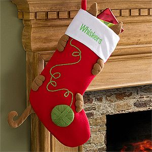 Love My Kitty Embroidered Cat Stocking-I want to try and make this on my own for our new kitty!