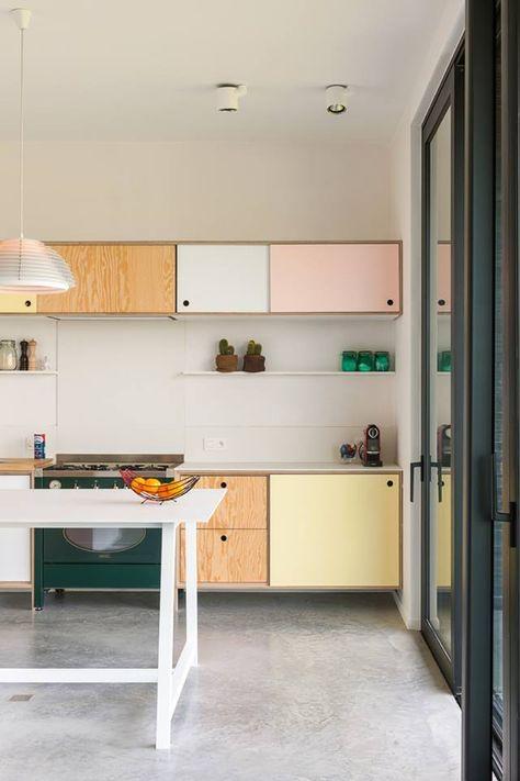 Inspiration 10 drömkök i toner av pastell - alte küchenfronten erneuern