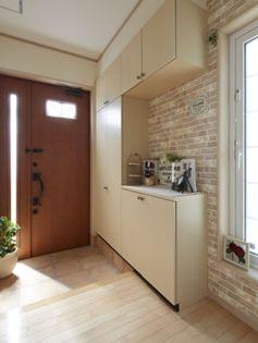 一条工務店 玄関 玄関ホール 壁紙 玄関 レイアウト 玄関ホール