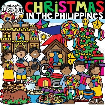 2020 Christmas In The Philippines Christmas in the Philippines Clipart {Christmas Around the World