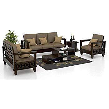 Sarswati Furniture Sheesham Sofa Set For Living Room Wood Furniture Wooden Sofa Set 3 2 1 1 7 In 2020 Wooden Sofa Set Living Room Sofa Set Wooden Sofa Set Designs