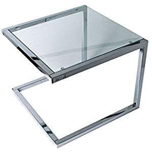 Leitmotiv Tisch Glas Silber 50 X 50 X 40 Cm Beistelltische Beistelltisch Wohnzimmertische