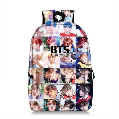 0722026ea7bb Bts School Bags Shoulder Backpack Bags