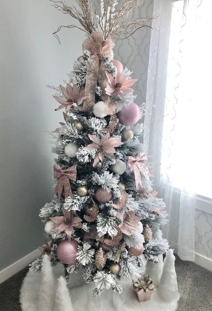 Friday Favorites Trees Please Pink Christmas Tree Decorations Glam Christmas Tree Pink Christmas Tree