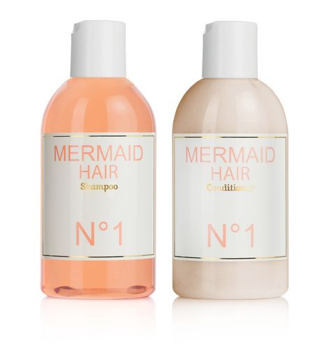 mermaid hair shampoo & conditioner... orange blossom flowers & coconut fragrance... enhances shine, softness, elasticity, luster & tames flyways... not tested on animals - made with love.