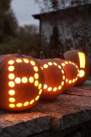 Boo! Pumpkin carving