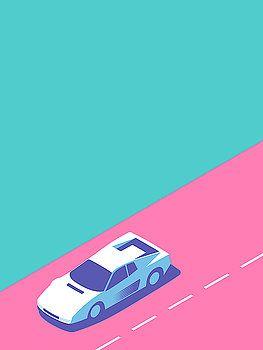 Miami Vice Car Aqua By Ivan Krpan Miami Vice Retro Color Palette Miami