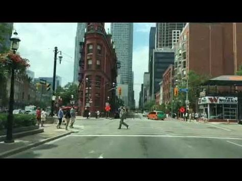 Driving Downtown Financial District Toronto Canada Youtube