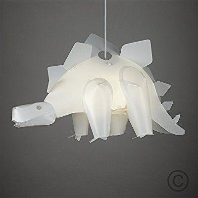 Fun Children S Bedroom White Stegosaurus Dinosaur Jurassic Bedroom Ceiling Lamp Pendant Light S Hanging Bedroom Lights Ceiling Lamps Bedroom Children Room Girl