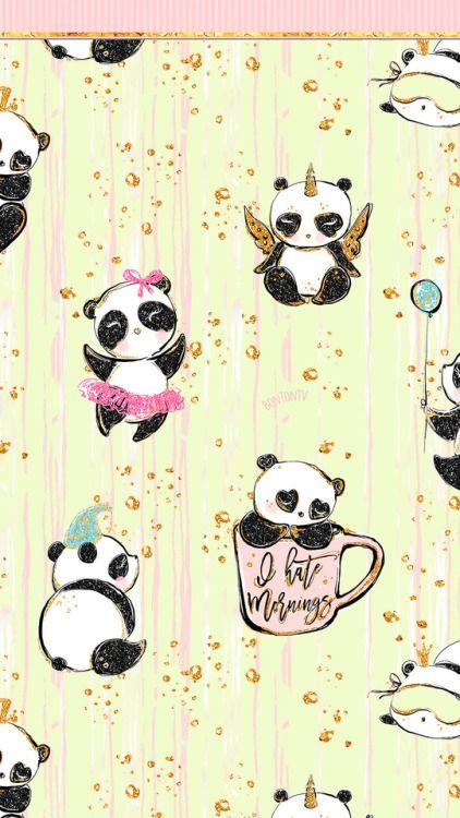 Check Out My Behance Project Cute Panda Polar Bear Illustration Phone Wallpaper Https Www Polar Bear Illustration Cute Panda Wallpaper Panda Wallpapers