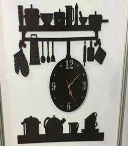 ساعات الحائط ليست فقط لإخبار الوقت ولكنها سرعان ما أصبحت عنصرا زخرفيا قيما تكمل ساعات الحائط جميع أنواع الديكور ساعة حائط الرف للمطبخ خشب Wall Clock Clock Wall