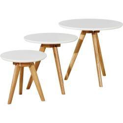 Beistelltisch Set 3 Teilig Weiss Tische Beistelltische Mobel Kraft In 2020 Hoffner Beistelltische Set Beistelltische