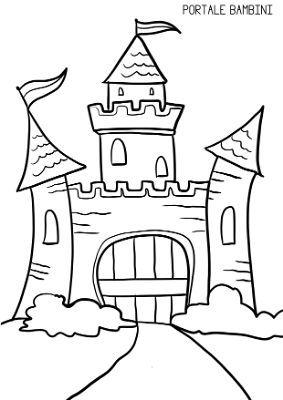 Immagini Castelli Da Colorare.Disegni Di Castelli Da Stampare E Colorare Gratis Portale Bambini Disegno Di Castello Disegni Libri Da Colorare