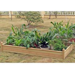 Terra Fir Rectangular Raised Bed 2m X 1m On Sale Fast Delivery