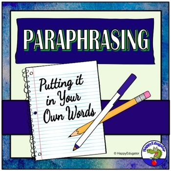Paraphrasing Step To Great Powerpoint Paraphrase Research Skill Presentation Skills For Third Grade
