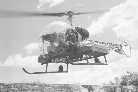 The Bell 47 is a two-bladed, single engine, light helicopter manufactured by Bell Helicopter. The Bell 47 was Bell's first helicopter designed by Arthur M. The Bell 47 became the first helicopter certified for civilian use on 8 March 1946