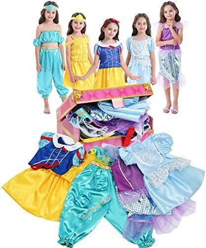 New Vgofun Girls Dress Trunk Princess Costume Dress Pretend Play Set Girls Toddlers Online Shopping Theprettyfashion Toddler Princess Dress Girls Dress Up Little Girl Dresses