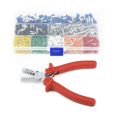 Sponsored Ebay Crimp Tool Kit Ferrule Crimper Plier 800pcs Electrical Wire Connector Terminal In 2020 Wire Connectors Electrical Wire Connectors Electrical Tools