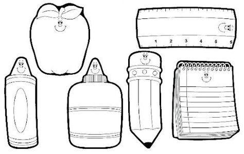 Dibujos Para Colorear De Los Utiles Escolares Imagui Back To School Crafts School Themes Carson Dellosa