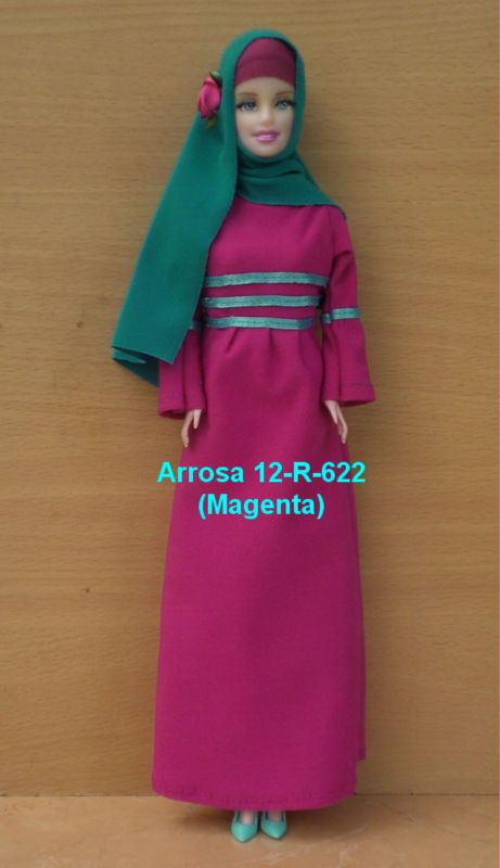 Muslim Doll Hand Painted Lilac Abaya Hijabi Doll Girls Eid Gift