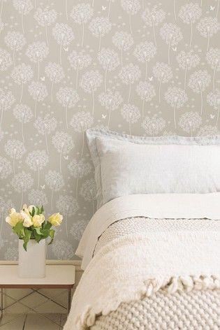 Nuwalls Dandelion Self Adhesive Wallpaper In 2020 Stick On Wood Wall Room Set Wallpaper Bedroom