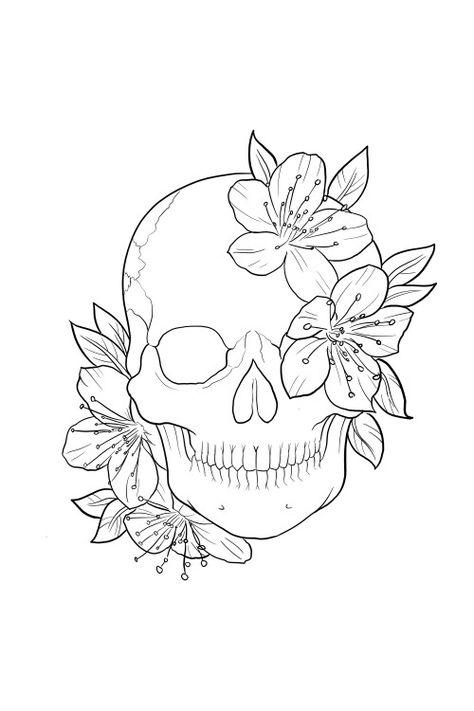 My Tattoo Desenho Caveira Desenhos Para Tatuagem Desenho