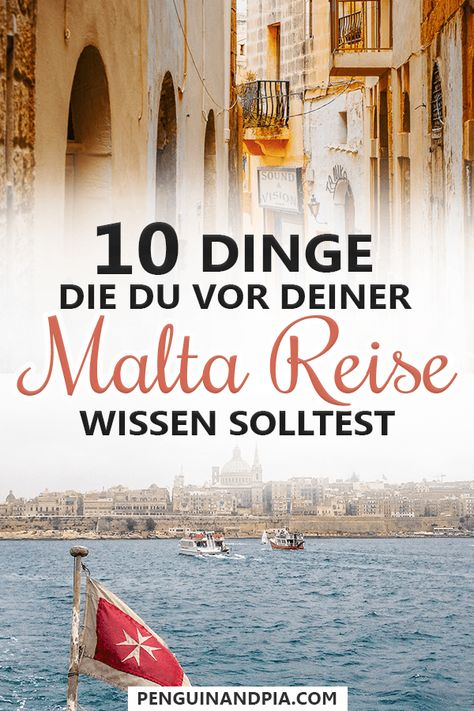 Malta ist ein Reiseziel, das wir definitiv weiterempfehlen würden. Es gibt jedoch einige Dinge, die du vor deiner Reise über das Land wissen solltest! So steht deinem perfekten Urlaub nichts mehr im Wege. #malta #reisetipps
