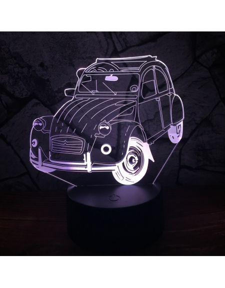 Lampe A Effet 3d Motif Une Citroen 2cv 2cv 2cv Citroen Lamp