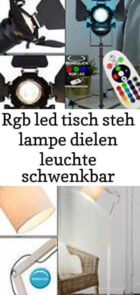 RGB LED Decken Fluter Fernbedienung Wohn Zimmer Glas Steh Lese Big Light