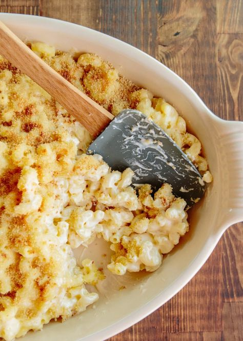 Everyone needs a solid mac and cheese recipe in their back pocket. This recipe is easy, cheesy, and bubbly. What makes it is the bread crumb topping that's baked in the oven until crispy on top. Here's our step-by-step recipe for the best classic baked mac and cheese.