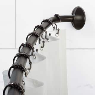 Neverrust Curved Shower Rod 14 Piece Set Dark Bronze Curved Rod
